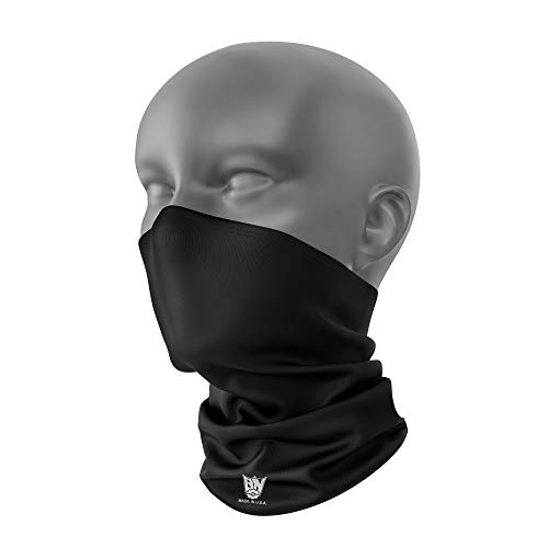 Neck Gaiter UV Sun Protection by Breakneck Gear Made in The USA (Black)