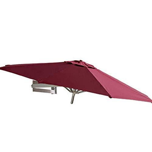 Ruinaier Houswares Sun Parasol Umbrella Garden Parasoles al aire libre Patio Montaje en la pared Paraguas para balcón de pared Puerta Puerta Sunde con inclinación y poste de aluminio, Oslash;7ft / 2.2