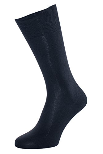 Albert Kreuz Die Elegante aus Seide - Herren-Socken aus 98% Seide marine 42-44