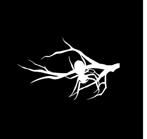 MUXIAND Auto Sticker, Spider opknoping op een tak 16x10cm Aangepaste PVC DIY Auto Motorfiets Sticker Art Accessory Creatieve Spel Stijl Venster Helm Decal Verjaardagscadeau 5 Stks