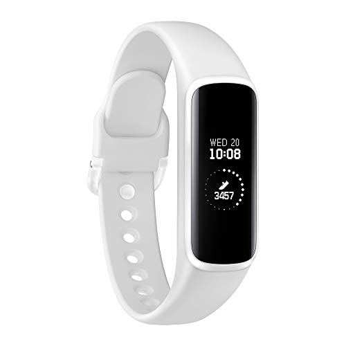 Samsung Galaxy Fit Bianco con Accelerometro, Tracker Allenamento Bluetooth v5.0, Display 0.74'...