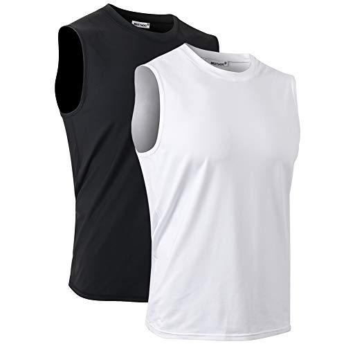 MeetHoo Camisetas de Tirantes Hombre Chaleco Deportivo Entrenamiento Camiseta sin Mangas Deportivas Fitness Verano para Deporte Gimnasio Correr Fútbol y Ciclismo