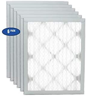 FilterBuy 14x30x1 MERV 8 Pleated AC Furnace Air Filter, Renewed Pack of 4 Filters Silver 14x30x1
