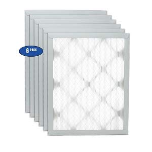 "Filters Fast 10x16x1 Pleated Air Filter (6 Pack), Merv 8 | 1' AC Furnace Air Filters, Made in the USA | Actual Size: 9.5'x15.5""x0.75"""