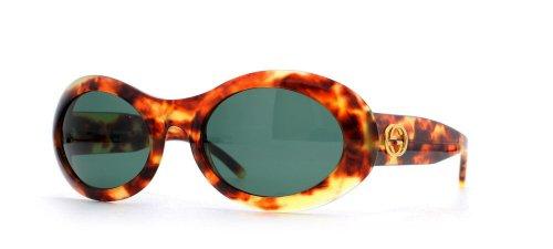 Gucci 2400 D0C marrone rotondo certificato occhiali da sole vintage per le donne