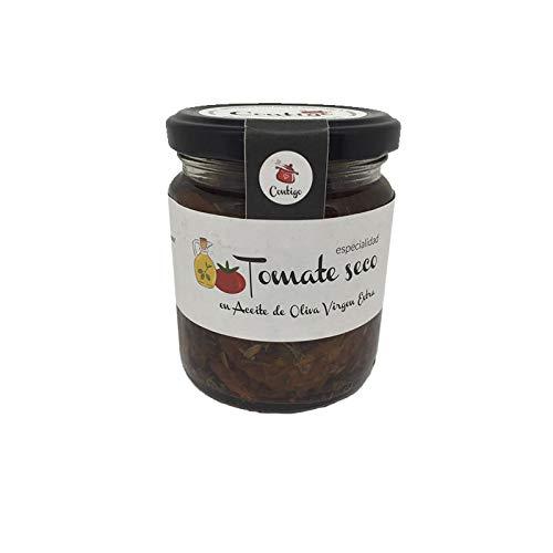 Tomate Seco en Aceite de Oliva Ecologico - Tarro de 210 gr - Conservas Artesanales Contigo (Pack de 1 tarro)