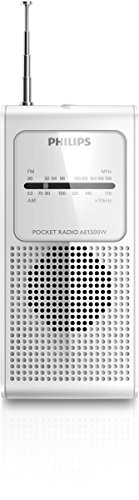 Philips Ae1500w Portable Radio FM/Am Analogue Tuning AE1500 White/Genuine