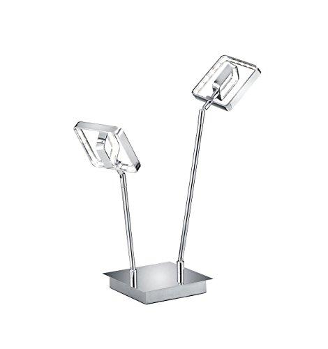 Reality Leuchten R52502406 A+ LED Tischleuchte Metall, chrom