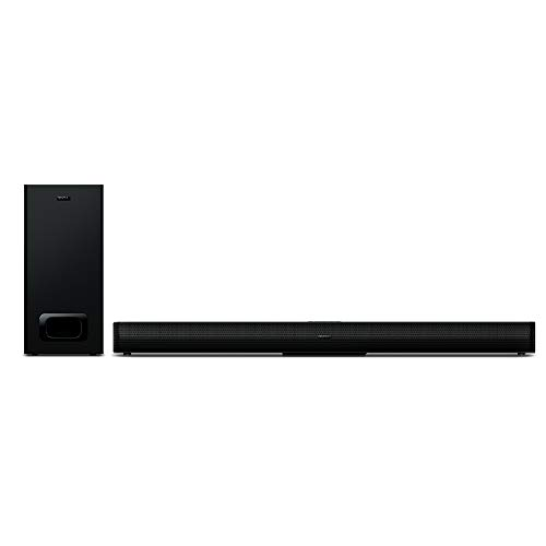 TCL TS5010 (80 cm) Soundbar TV mit Subwoofer (Bluetooth Soundbar, 2.1-Kanal-Sound, 120 Watt, Dolby Digital, AUX 3,5 mm Line Eingang, Fernbedienung) Schwarz