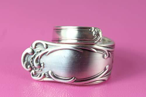 Rokoko Besteck Schmuck Ring, ca. 63 (20,2) Ring aus Besteck