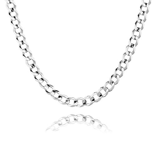 STERLL Herren Halskette Sterling-Silber 925 60cm Ohne Anhänger Geschenkverpackung Geschenk für Mann
