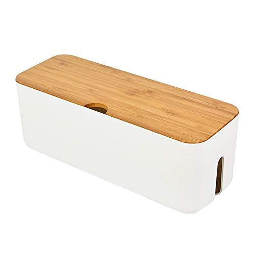 MAYOKIAAR ABS-Kabel-Aufbewahrungsbox mit Deckel, Kabel-Management-Box, Kordel-Organizer, staubdicht, isoliert und wärmeableitend, 29,5 x 11 x 11,4 cm
