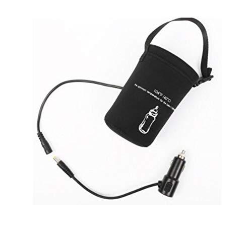 QKJZWJ Babyflaschenwärmer, 12V im Auto Babyflasche Milch-Wasser-Schalen Heizung Thermostat Füttern Milchnahrung Thermal-Wärmer-Beutels mit USB-Anschluss Aufladen