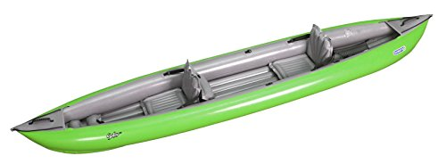 Gumotex Solar Luftkajak Kanu Gummi Zweierkanu Schlauchboot Wandertouren, Farbe:Neon-Grün