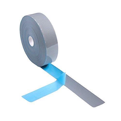 Elastic Silver Reflective Tape Iron On Fabric Heat Transfer Vinyl Film DIY (20mm x 10m)