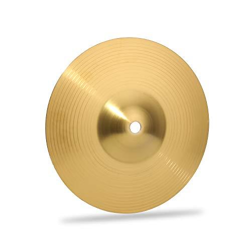 Muslady Brass Drum Crash Becken Instrumentenbecken Praktisch Alloy Cymbal für Schlaginstrumente Spieler Anfänger