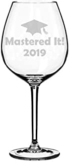 Wine Glass Goblet Funny Class of 2019 Graduation Masters Mastered It (20 oz Jumbo)