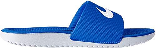 NIKE KAWA Slide (GS/PS) Chanclas, Hombre, Azul (Hyper Cobalt/White 400), 40 EU