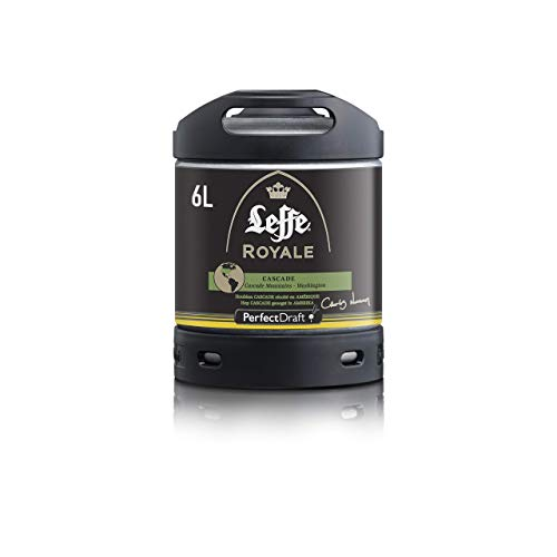 CCerveza PerfectDraft un barril de 6 litros de Leffe Royale Cascade IPA - IPA. Máquina de tiro casera. Incluye un depósito de 5 euros.
