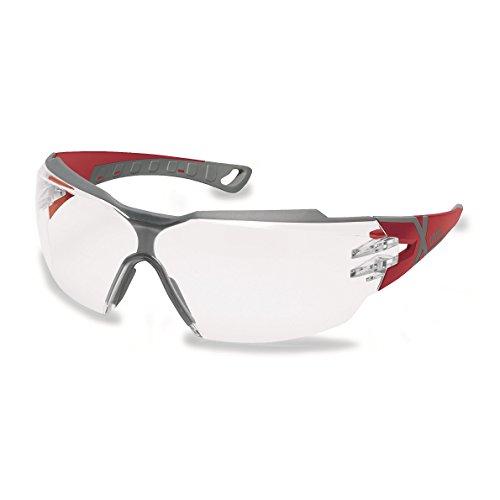 Uvex Occhiali sportivi occhiali protettivi occhiali da lavoro 9198pheos cx2con X-Brand adatti per combinazione con apparecchio acustico, nero