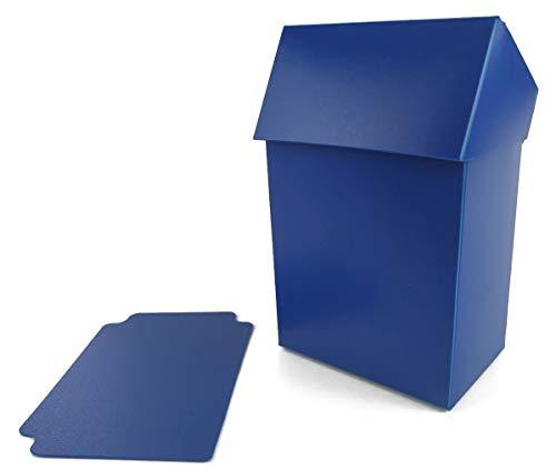 Arkero-G® 80+ Deck Box - Blau / Blue - für über 100 Karten Sammelkarten Case inkl. Kartentrenner