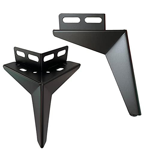 NWB 4 Piezas Patas de Metal para Muebles,Altura 10cm,13cm,15cmPies Armario Triangulares Repuesto,con Tornillos,para Sofas, Armario, Sillón y Mesa de Centro
