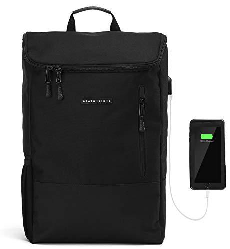Ronin's Rucksack Herren Damen | Stilvoll und Durchdacht | für Arbeit Reisen Freizeit Uni | mit Laptopfach & Anti Diebstahl Tasche | Schwarz