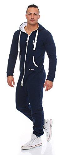 Gennadi Hoppe Herren Jumpsuit Slim Fit,blau - 2