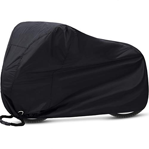 Ohuhu Bike Cover, Bike Covers for Outside Storage, 210T Extra Heavy Duty Outdoor Waterproof Anti Dust Rain UV Protection Bicycle Cover/Bike Storage for Mountain Bike, Road Bike (Black)