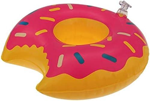 Kingdiscount 288 Stück Aufblasbarer Getr ehalter Donut 22 cm
