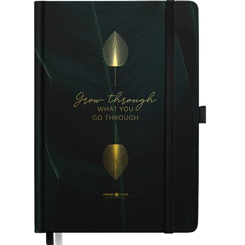 "Bullet Journal PRO ""PALMENZWEIG"" Lebenskompass® - Notizbuch A5 Extradickes Papier, Dotted 5 mm, Dickes Papier 120 g/m² FSC® - Bujo Buch & Tagebuch"