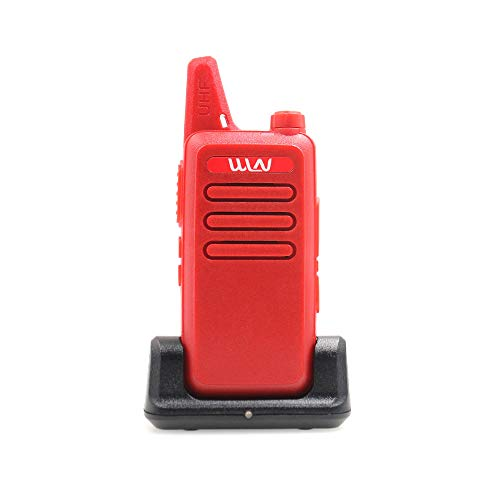 Mini Hand-held 2 Way Radio WLN KD-C1 Portable Walkie Talkie UHF400-470MHz Red Color+ Desktop Charger