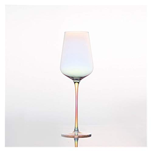 LIZCX YAOQIHAI New Rainbow Copa de Vino Copa de Vino Cristal Coctelo Red Vino Champagne Gafas Color Vino Copa Casa Boda Fiesta de Boda (Color : B)