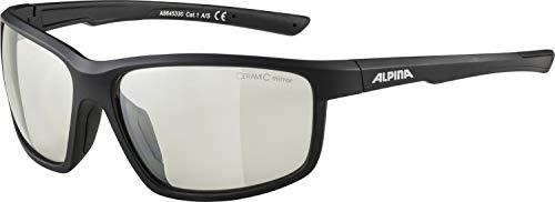 ALPINA DEFEY Sportbrille, Unisex– Erwachsene, black matt, one size