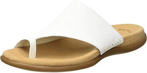 Gabor Damen Jollys-03.700 Pantoletten, Weiß (Blanc Leather), 40 EU