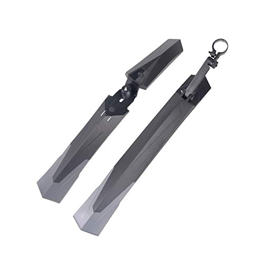 WLDZSW 1 Pair of Bicycle Mudguard Mountain 26 27.5 29 Inch Bicycle Mudguard Flap Front and Rear Mudguard Installation 27.2-34.9mm Seatpost
