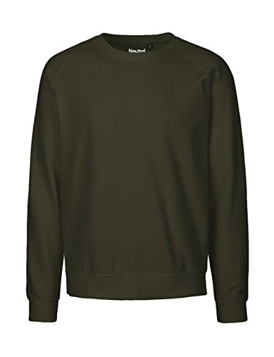Spirit of Isis -Neutral- Sweatshirt, 100% Bio-Baumwolle. Fairtrade, Oeko-Tex und Ecolabel Zertifiziert, Textilfarbe: Oliv, Gr.: XL
