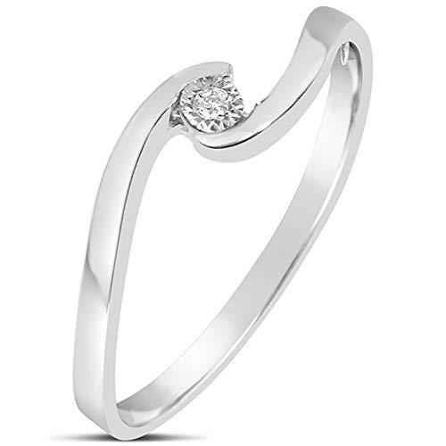 Anello Donna Fidanzamento Oro e Diamanti–Oro Bianco 9kt 375 Diamanti 0.01Carati B Clicca su MILLE AMORI blu e scopri tutte le nostre collezioni