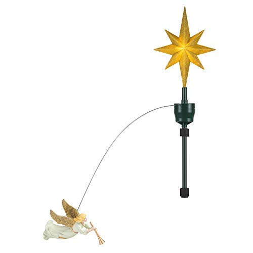 Mr. Christmas 49324 Animated Tree Topper - Single Angel Holiday Decoration, One Size, Multi