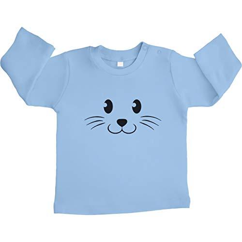 Shirtgeil grappig babygeschenk carnaval dierengezicht unisex baby shirt met lange mouwen maat 66-93