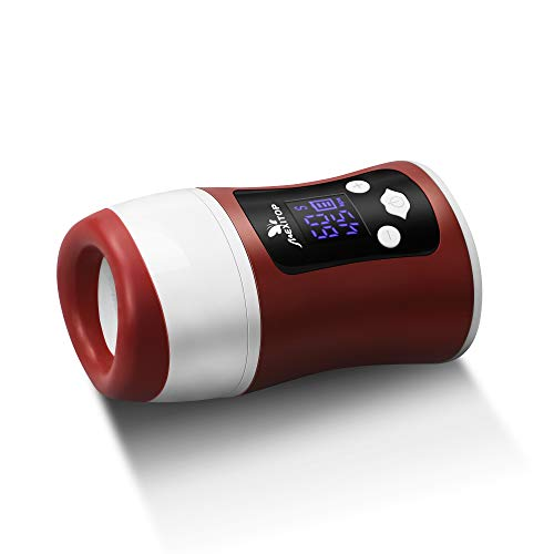 Lip Plumper - Mexitop Upgraded Automatic Lip Plumper Device, Smart Control (Time, Suction), Digital Display, USB Charging for Lips Makeup (Brownish Red, Bonus Sponge Pad Included), 2019 New