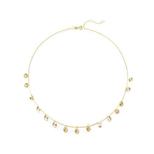 VEECANS Collar Mujer ESTRELLITAS Chapado en Oro Hecho con Cristales Swarovski Brillantes Regalo para el Día de San Valentín, el Día de la Madre y Navidad, Extensión 42+4cm