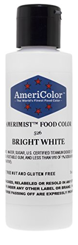 Americolor Airbrush Cake Decorating color, 5-Ounce, Amerimist Bright White