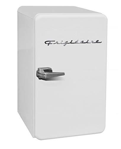 FRIGIDAIRE EFR372-WHITE 3.2 Cu Ft White Retro Compact Rounded Corner Premium Mini Fridge