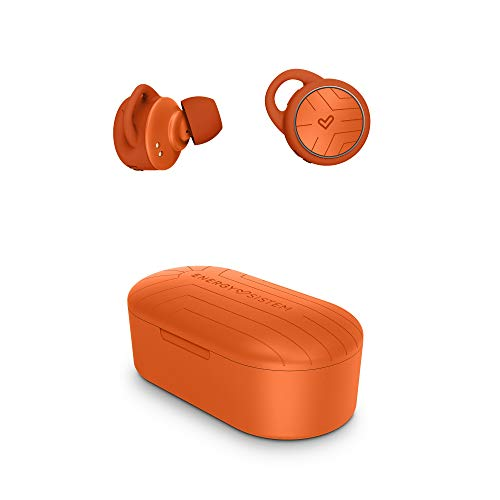 Energy Sistem Earphones Sport 2 True Wireless In-Ear-Kopfhörer (True Wireless Stereo, Bluetooth 5.0, Sport, Secure-Fit+) Orange