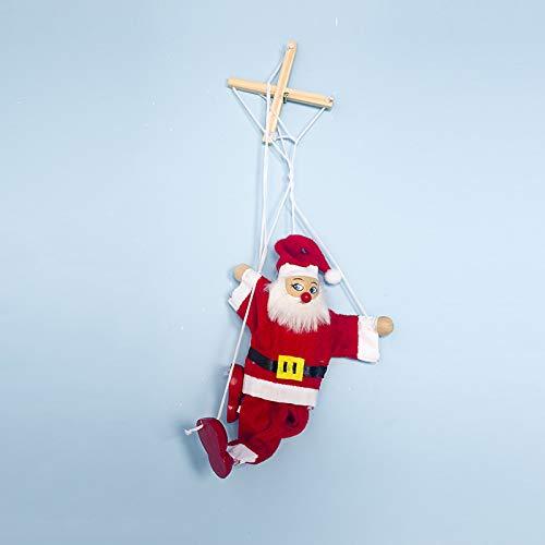 Studyset Marionette String Puppet, Panno Natale Marionette Creativo Natale Pickup Doll Giocattolo per Bambini, Cintura di Babbo Natale, One