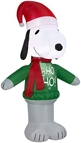 Snoopy Ho Ho Ho Sweater Christmas Inflatable