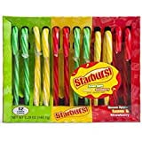 Starburst STARBURST, Assorted Candy Canes Green Apple, Lemon & Strawberry, 5.28 oz, 5.28 ounce