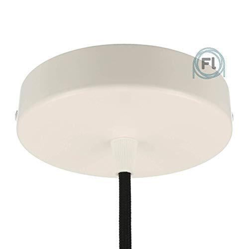 Baldachin | Abzweigdose | Verteilerdose zur Kabelabdeckung Ihrer Deckenlampe | Lampenkappe in weiß 1 Loch Ø 12 cm inkl Zugentlastung | Lampenbaldachin für alle Lampen geeignet