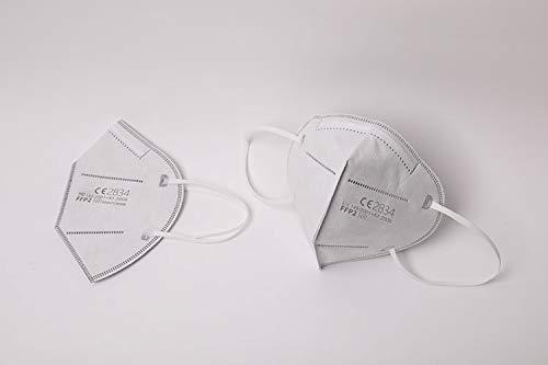 Simplecase FFP2 Maske, Atemschutzmaske, Partikelfiltermaske, EU CE Zertifiziert von Offiziell benannter Stelle CE2834 – 40 Stück, WEIß MS-2004-20212 - 3